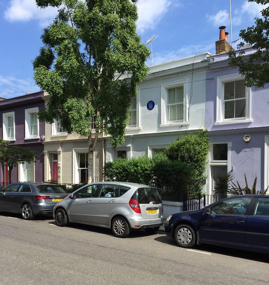 La maison de Georges Orwell sur Portobello Road.