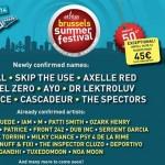 Mon programme pour le Brussels Summer Festival 2014