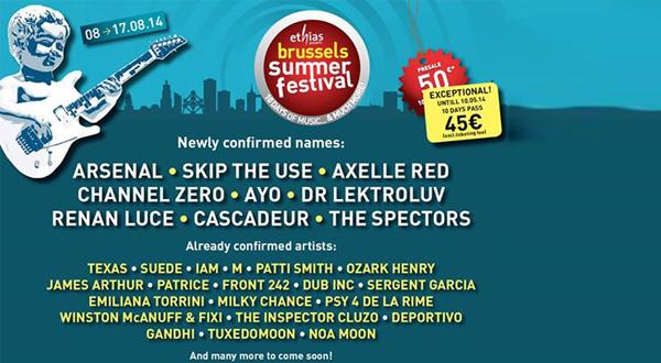 Affiche Brussels Summer Festival 2014